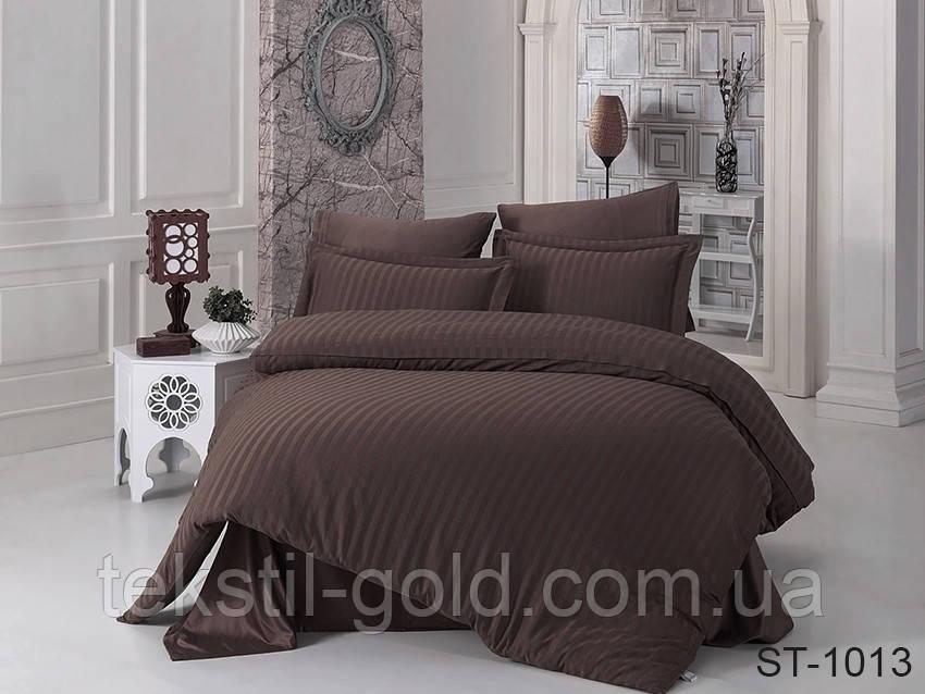 1,5-спальный комплект постельного белья ТМ TAG (Украина) страйп-сатин ST-1013
