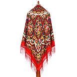 Именины сердца 1868-5, павлопосадский платок шерстяной  с шелковой бахромой, фото 3