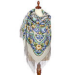 Именины сердца 1868-1, павлопосадский платок шерстяной  с шелковой бахромой, фото 2