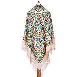 Именины сердца 1868-3, павлопосадский платок шерстяной  с шелковой бахромой, фото 2