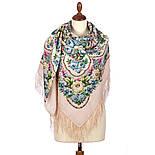 Именины сердца 1868-3, павлопосадский платок шерстяной  с шелковой бахромой, фото 3