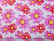 Коттон рисунок крупные цветы, коралловый с розовым, фото 2