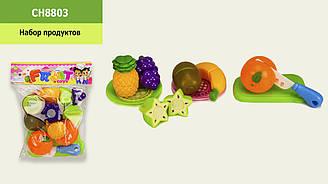 Овочі та фрукти (резка овощей и фруктов) CH8803 (84шт) набір продуктів, в пакеті 19*23 см