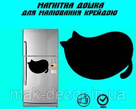 Магнитная доска на холодильник  Покорми кота L  (20х25см)