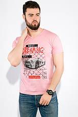 Футболка 168F097 цвет Розово-сиреневый, фото 2