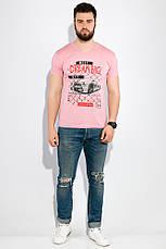 Футболка 168F097 цвет Розово-сиреневый, фото 3