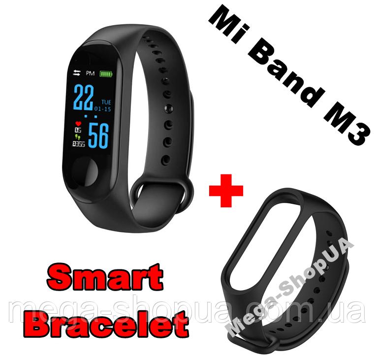 Фитнес браслет Smart Bracelet Mi Band M3 Black - USB. Цветной экран. Фитнес-браслет M3