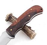 Нож охотничий Бода, рукоять дерево, чехол на пояс, ножи для охоты нескладне, фото 4
