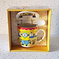 """Чашка с крышкой и ложкой """"Миньон"""" (320 мл.), фото 1"""