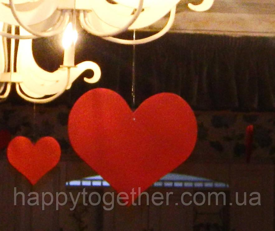 Сердце из пенопласта красное 23 см