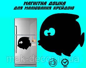 """Магнітна дошка на холодильник """"Рибка"""" XL (30х32см)"""