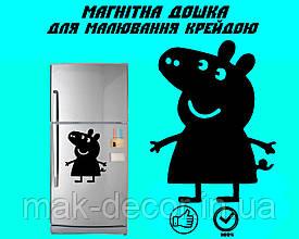 "Магнитная доска на холодильник ""Свинка Пеппа"" XL (30х40см)"