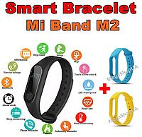 Фитнес браслет Smart Bracelet Mi Band M2 Blue&Yellow, фитнес трекер, спорт часы, умные часы, розумний годинник