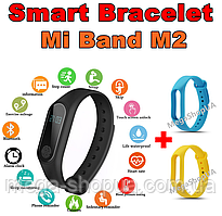 Фитнес браслет трекер Mi Band M2 с тонометром, женские мужские умные смарт часы. Розумний смарт-годинник M2BY