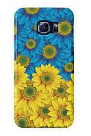 Чехол для Samsung Galaxy S6 (Сине-желтые цветы)