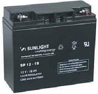 Аккумулятор SUNLIGHT SP12-18, 12В 18 А*ч