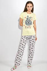 Пижама женская 317F019 цвет Желто-серый