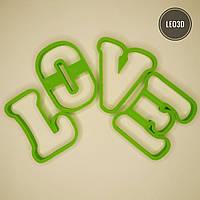 """3D формочки-вырубки для пряников """"LOVE 3 """""""