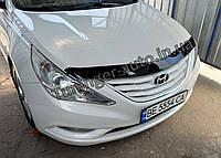 Дефлектор капота (Мухобойка) Hyundai Sonata YF 2010-2014 (EGR/Австралия)