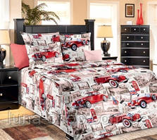 Комплект Машины в детскую кроватку/садик с резинкой и без, бязь