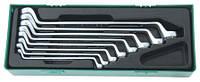 Набор ключей накидных 75-гр, 6-22 мм, ложемент в пластиковом кейсе W23108SP (Jonnesway, Тайвань)