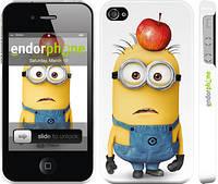 "Чехол на iPhone 4s Миньоны v10 ""2968c-12"""