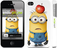 "Чехол на iPhone 4 Миньоны v10 ""2968c-15"""