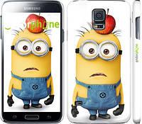 "Чехол на Samsung Galaxy S5 Duos SM G900FD Миньоны v10 ""2968c-62"""