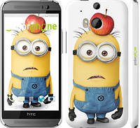 "Чехол на HTC One M8 dual sim Миньоны v10 ""2968c-55"""