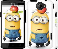 """Чехол на HTC One X Миньоны v10 """"2968c-42"""""""