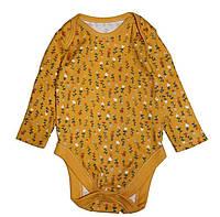 Бодик желтый в цветы для девочки, George, 134601