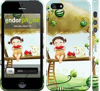 """Чехол на iPhone 5 Девочка с арбузом """"2957c-18"""""""