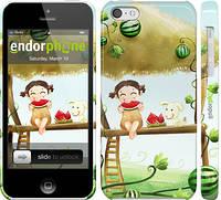 """Чехол на iPhone 5c Девочка с арбузом """"2957c-23"""""""