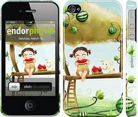 """Чехол на iPhone 4s Девочка с арбузом """"2957c-12"""""""