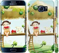 "Чехол на Samsung Galaxy S6 G920 Девочка с арбузом ""2957c-80"""