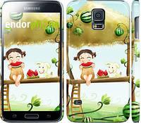"Чехол на Samsung Galaxy S5 Duos SM G900FD Девочка с арбузом ""2957c-62"""