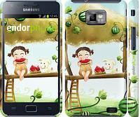 """Чехол на Samsung Galaxy S2 Plus i9105 Девочка с арбузом """"2957c-71"""""""