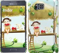 "Чехол на Samsung Galaxy Alpha G850F Девочка с арбузом ""2957c-65"""