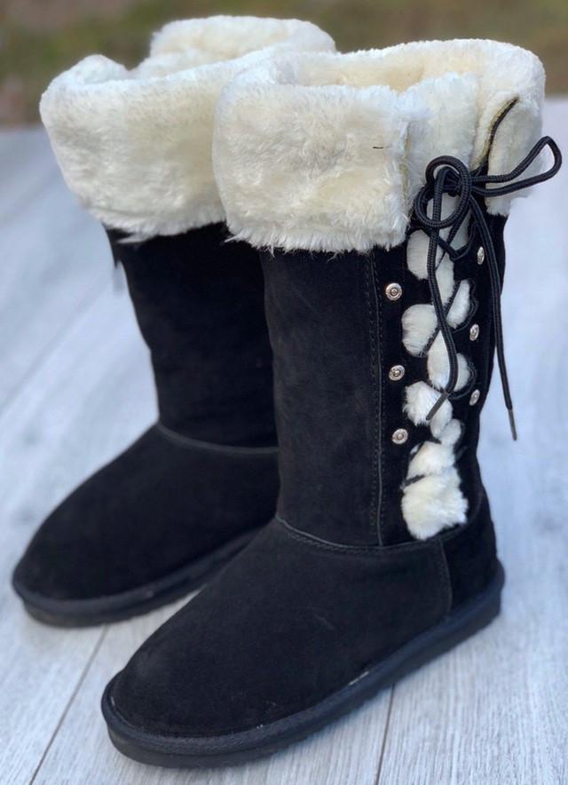 Ботинки женские зимние 5 пар в ящике черного цвета 38