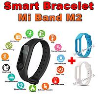 Фитнес браслет Smart Bracelet Mi Band M2 Blue&White, фитнес трекер, спорт часы, умные часы, розумний годинник, фото 1