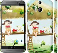"""Чехол на HTC One M8 dual sim Девочка с арбузом """"2957c-55"""""""
