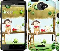 """Чехол на HTC One X Девочка с арбузом """"2957c-42"""""""