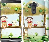 """Чехол на LG G3 dual D856 Девочка с арбузом """"2957c-56"""""""
