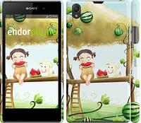 "Чехол на Sony Xperia Z1 C6902 Девочка с арбузом ""2957c-38"""