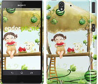 "Чехол на Sony Xperia Z C6602 Девочка с арбузом ""2957c-40"""