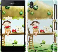 """Чехол на Sony Xperia Z2 D6502/D6503 Девочка с арбузом """"2957c-43"""""""