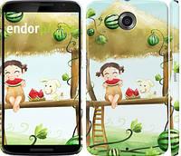 "Чехол на Motorola Nexus 6 Девочка с арбузом ""2957c-67"""