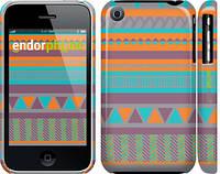 "Чехол на iPhone 3Gs Узор v18 ""2956c-34"""