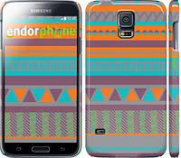 "Чехол на Samsung Galaxy S5 Duos SM G900FD Узор v18 ""2956c-62"""