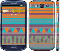 "Чехол на Samsung Galaxy S3 Duos I9300i Узор v18 ""2956c-50"""